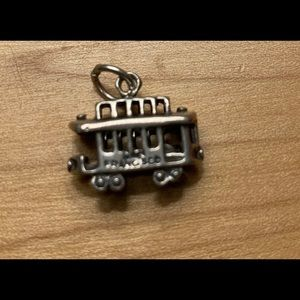 Sterling cable car charm